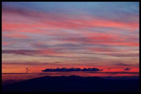 soleil couchant sur les cretes du haut jura