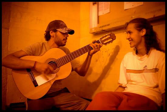 Gitans jouant du flamenco, Bermeo, Euskal Herria