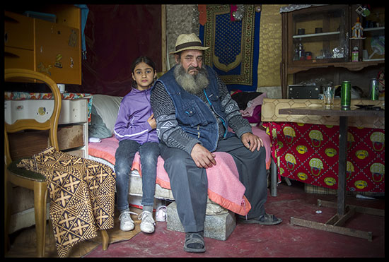 Grand père et sa petite fille