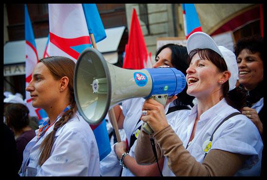 Grève des aides-soignantes aux hôpitaux de Genève