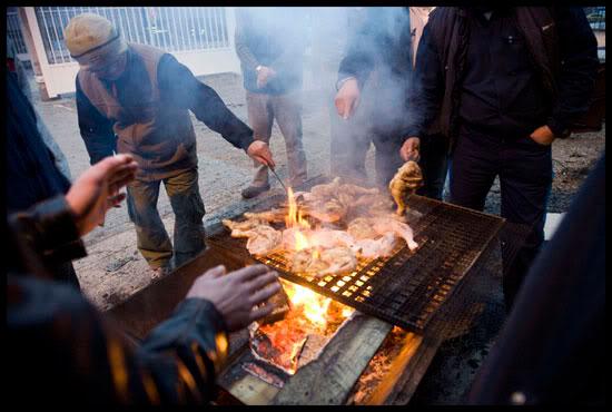 8ème jours de grève des salariés de Manzoni-Bouchot, Saint Claude