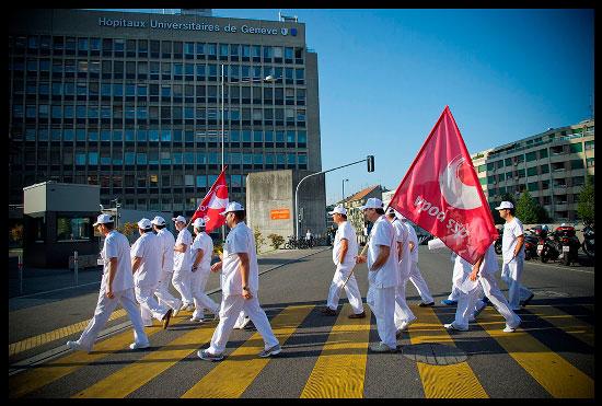Grève des transporteurs de patients aux Hôpitaux de Genève