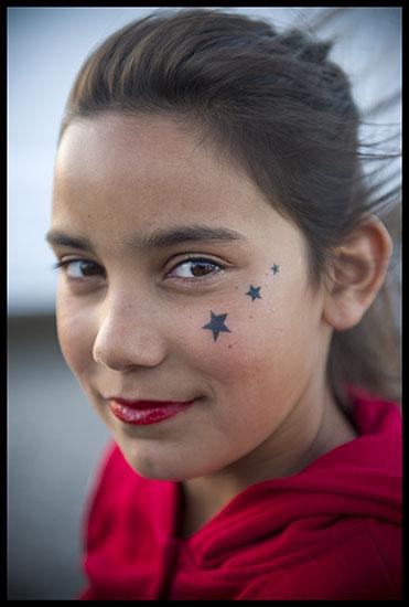 Portrait d'une jeune fille manouche