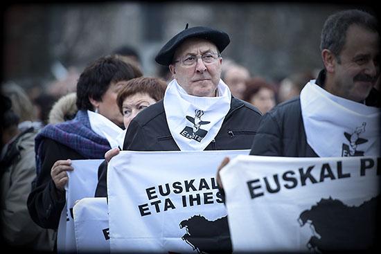 manifestation des familles de prisonniers basques