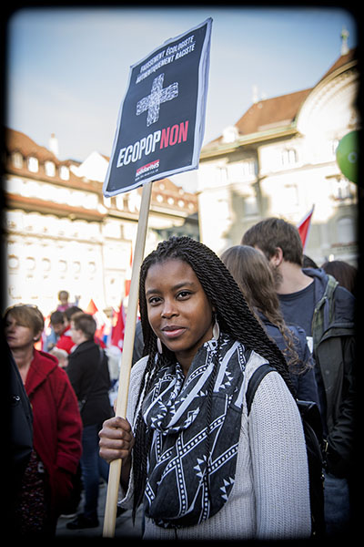 Manifestation contre Ecopop