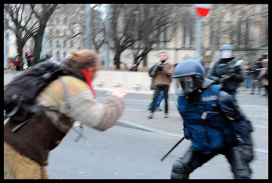 Manifestation à Genève contre le World Economic Forum