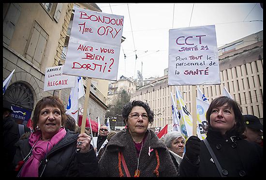 Manifestation de grévistes