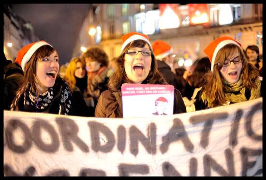 Manifestation lycéenne à Paris