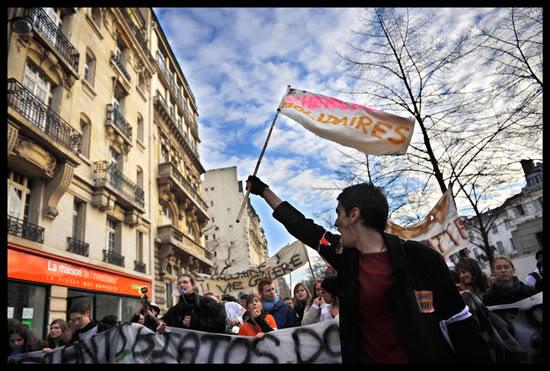 Manifestation à Paris lors de la journée nationale de manifestations