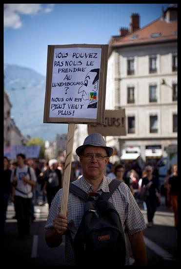Manifestation de grévistes contre la réforme des retraites