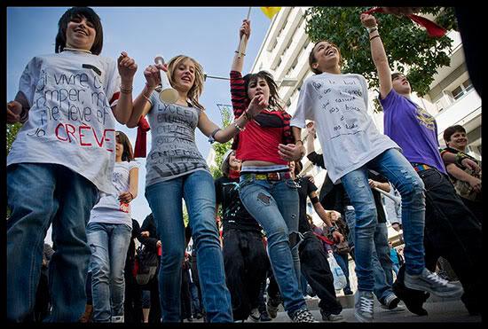Manifestation contre la réforme des retraite à Grenoble