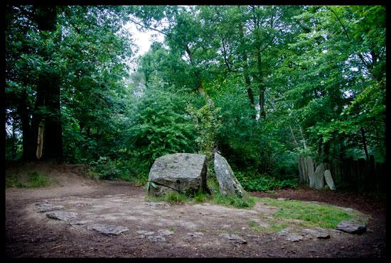 Le tombeau de Merlin, forêt de Brocéliande