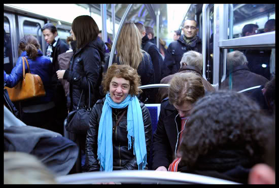 dans le métro à Paris