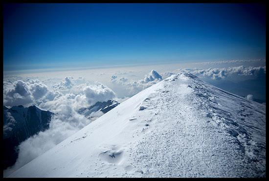 sommet désert du Mont Blanc