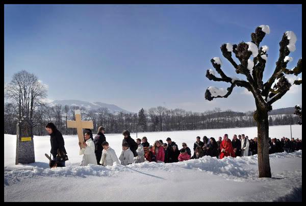 pèlerinage des Gens du Voyage suisses à Notre Dame des Marches à Broc