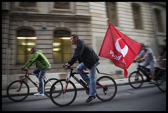 Débrayage de profs de gym à vélo