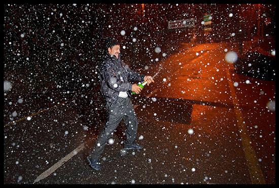 Rom migrant fête le Nouvel An à Annemasse