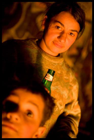 Romni migrante et son fils dans les environs d'Annecy