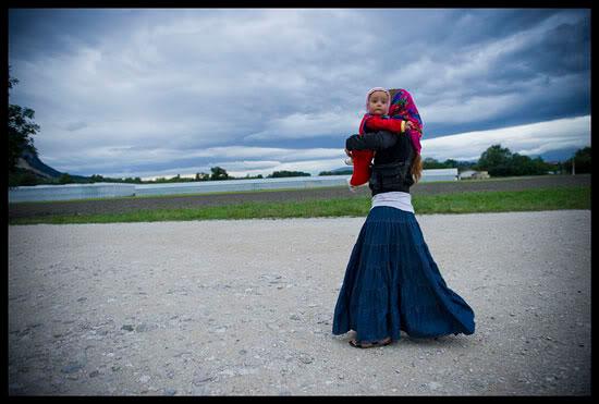 Romni et son enfant, Haute Savoie