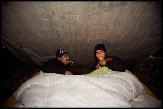 Geneva's Roma's paradise, des Roms dorment dehors