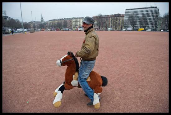Gypsy Horse, Rom migrant à Plainpalais