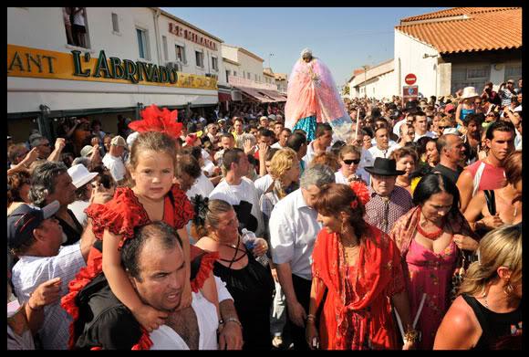 Procession de Ste Sara dite la Kali aux Saintes Maries de la Mer