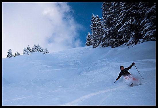 Ski de randonnée à la pointe de l'Ecuelle