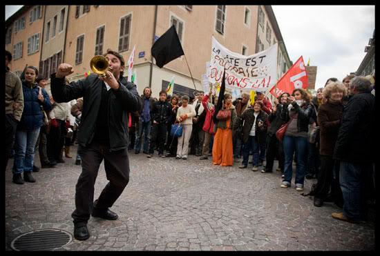 La fanfare Vagabontu rejoint la lutte à Annecy