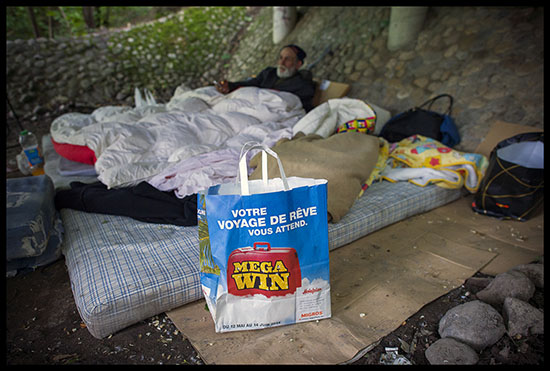 Campement rom à Genève